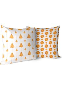 Kit 2 Capas Para Almofada Love Decors Decorativas Premium Gold