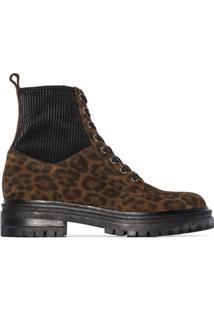 Gianvito Rossi Leopard Print Ankle Boots - Marrom