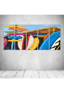 Quadro Decorativo - Surf House - Composto De 5 Quadros