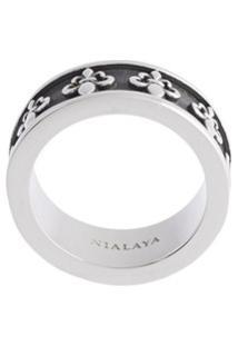 Nialaya Jewelry Anel Adorned Com Logo - Preto