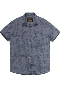 Camisa Khelf Tricoline Bambu Azul Claro