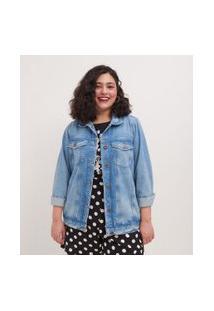 Jaqueta Jeans Curve & Plus Size | Ashua Curve E Plus Size | Azul | Eg