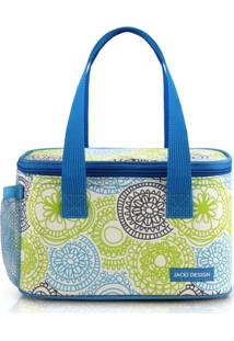 Bolsa Térmica Com Compartimento Lateral Rede Jacki Design My Lolla Azul - Kanui
