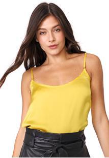 Regata Carmim Lisa Com Colar Amarela
