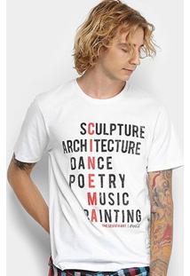 Camiseta Manga Curta Coca-Cola Estampada Frase Masculina - Masculino-Branco