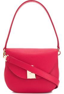 Furla Bolsa Tiracolo Sleek Com Efeito Granulado - Vermelho