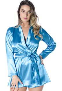 Robe Yasmin Lingerie Anitta Azul