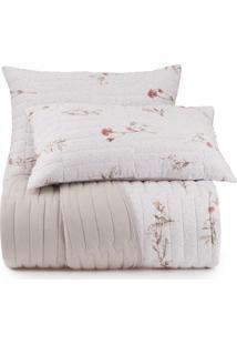 Jogo De Colcha Queen Altenburg Malha In Cotton 100% Algodão Belle Art - Bege Bege