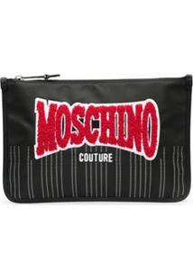 Moschino Bolsa Com Aplicação De Logo - Preto