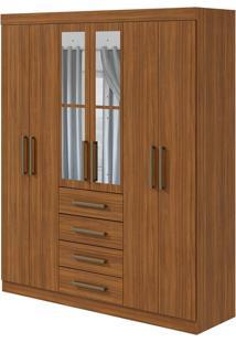 Guarda Roupa Hector Plus 6 Portas Com Espelho Rovere Naturale