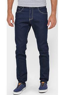Calça Jeans Skinny Razon Super Escura Elastano Masculina - Masculino