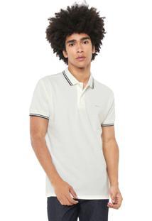 Camisa Polo Colcci Reta Listras Off-White