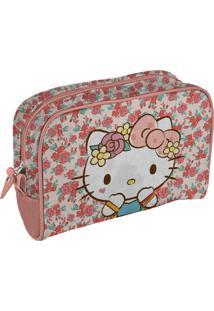 Necessaire Em Pu Rosa Hello Kitty Urban