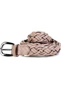 e64bb4528d ... Cinto Couro Shoestock Tressê Feminino - Feminino-Cinza