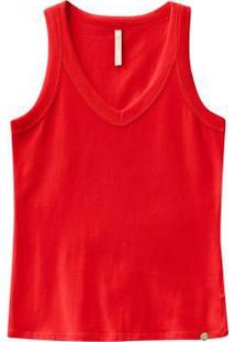 Blusa Regata Básica Malha Cotton Vermelho