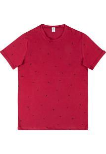 Camiseta Masculina Manga Curta Estampada