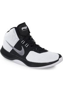 Tênis Nike Air Precision Branco Preto Prata - 898455-102