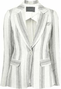 Lorena Antoniazzi Vertical-Striped Blazer - Cinza