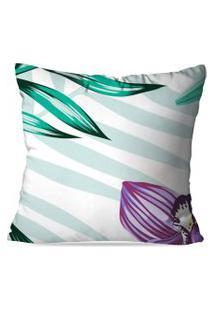 Capa De Almofada Love Decor Floral Multicolorido Branco