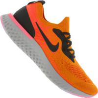 550f51585fe Tênis Nike Epic React Flyknit - Masculino - Laranja Preto