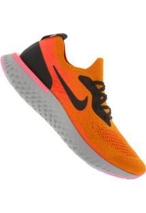 Tênis Nike Epic React Flyknit - Masculino - Laranja/Preto