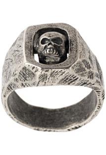Tobias Wistisen Anel 'Spinning Skull' - Spinning Skull Ring Arg: 18 Grs