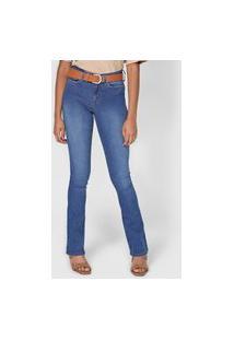 Calça Jeans Calvin Klein Jeans Bootcut Pespontos Azul