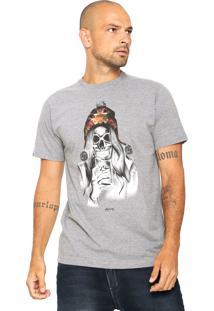 Camiseta Rusty Ac Skullgirl Cinza