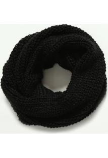 Echarpe Em Tricô- Preta- 144X49Cm- Cotton Colorscotton Colors Extra