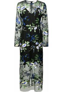 Dvf Diane Von Furstenberg Vestido Com Padronagem Floral - Preto