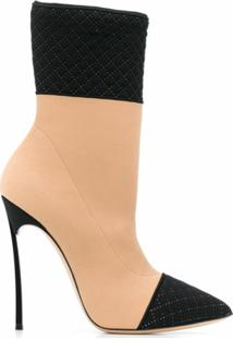 Casadei Ankle Boot Color Block - Neutro
