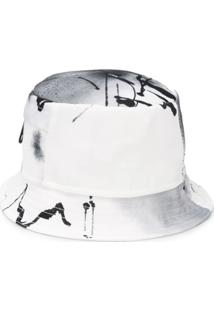 Off-White Chapéu Bucket Com Estampa Abstrata - Branco