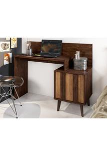 Mesa Para Computador Com Nicho Dusk Havana/Buriti - Caemmun