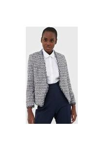 Blazer Banana Republic Metallic Tweed Azul/Branco