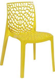 Cadeira Gruvyer- Amarela- 80,5X52,5X42Cm- Or Desor Design