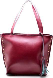 Bolsa Dr Shoes Sacola Casual Mulher - Feminino-Vermelho