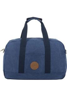 Bolsa It!S Canvas - Azul Marinho & Marrom - 45X28X16Swiss Move