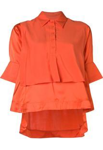Carven Blusa Com Duas Camadas - Laranja