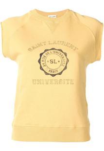 Saint Laurent Regata Com Logo - Amarelo