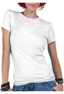 Camiseta Criativa Urbana Lisa Básica - Feminino