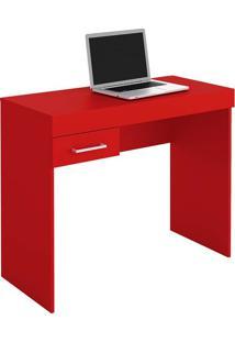 Mesa Para Computador Com 1 Gaveta Cooler - Artely - Vermelho