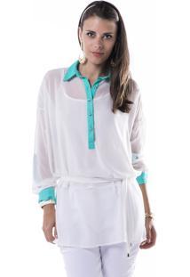 Camisa Marcia Mello Chiffon Collezione Off White