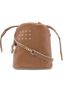 Bapy By *A Bathing Ape® Chain-Strap Leather Bucket Bag - Marrom