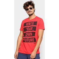 4939189c5 Camiseta Colcci Future Masculina - Masculino-Vermelho