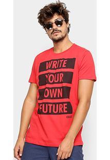 Camiseta Colcci Future Masculina - Masculino-Vermelho