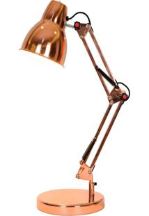 Luminária De Mesa Premier Iluminação Marselha, Metal, Rosê Gold
