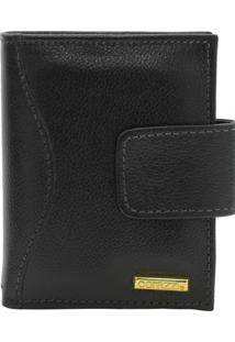 Carteira Corazzi Leather Deluxe Preta