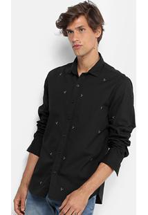 Camisa Foxton Manga Longa Mini Coqueiros Masculina - Masculino