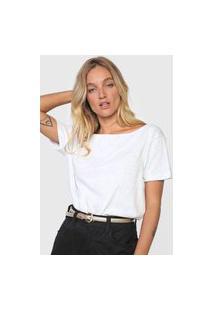 Blusa Colcci Logo Posterior Branca