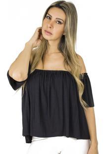 Blusa Dress Code Moda Ciganinha Preta